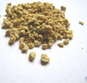 A areia tem o formato de um granulado